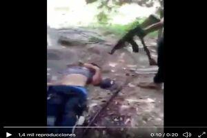 VIDEO: Sicarios del CJNG le destrozan la cabeza a balazos a integrante de Cárteles Unidos
