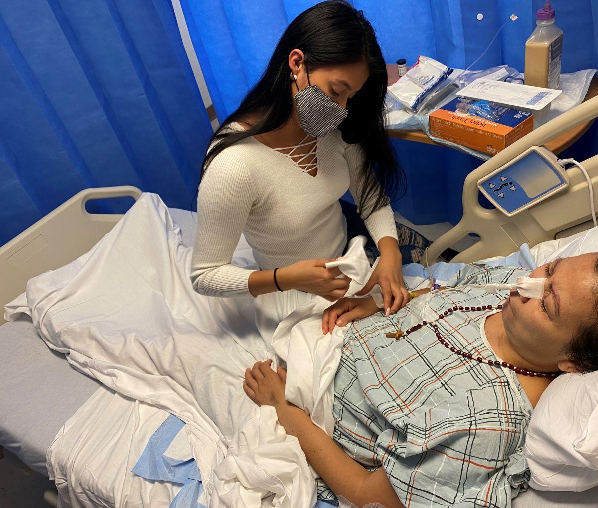"""""""Quiero ver a mi hijo"""": último deseo de madre ecuatoriana con cáncer terminal hospitalizada en NYC"""