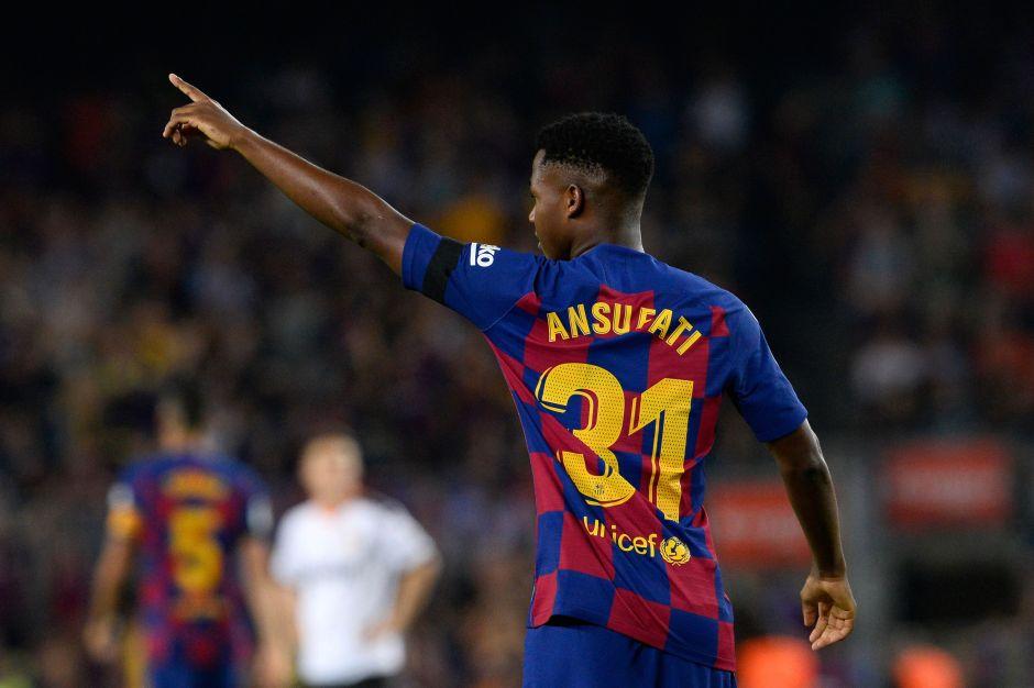 Agente de Ansu Fati pide un aumento para el jugador y protegerlo con una cláusula millonaria