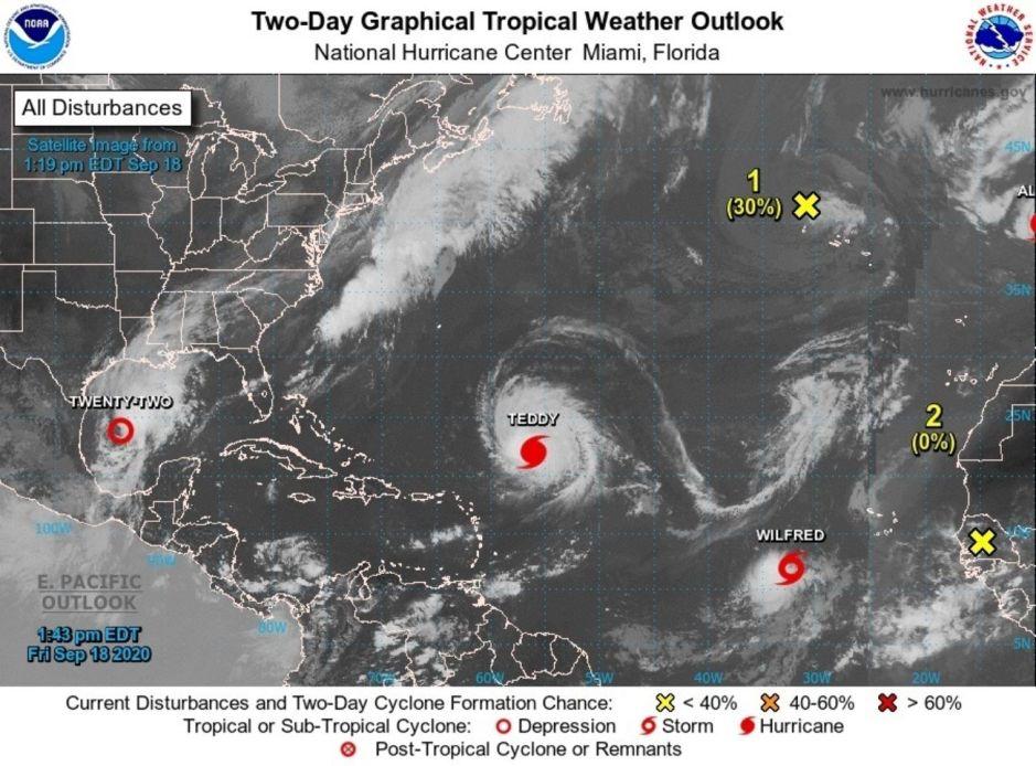 Wilfred: Con la nueva tormenta del Atlántico se acaban los nombres de huracanes