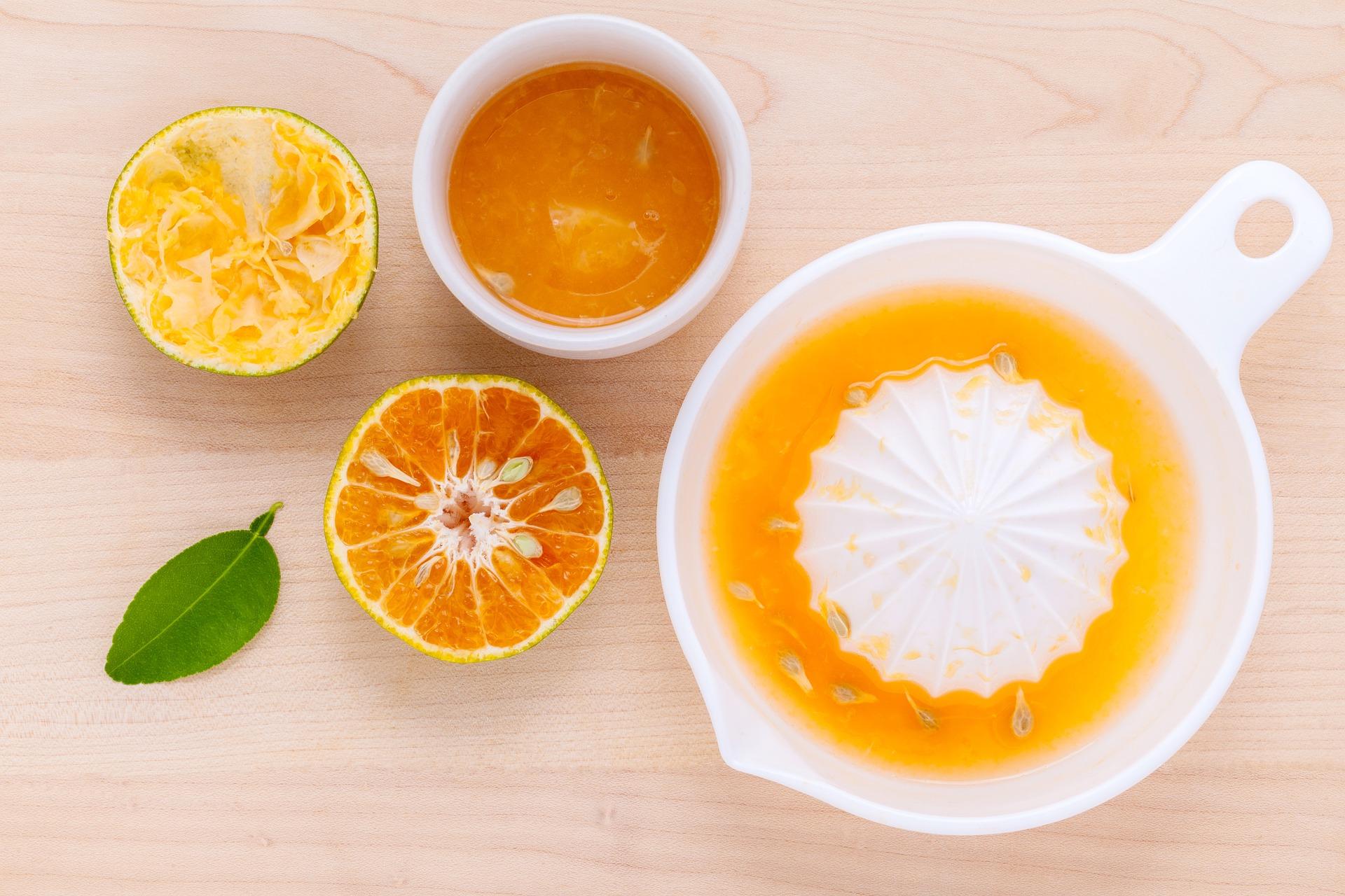 Tangerine juice.