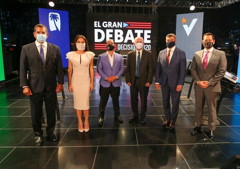 Junta de Supervisión Fiscal y deuda pública dominan primer debate de candidatos a gobernación en Puerto Rico