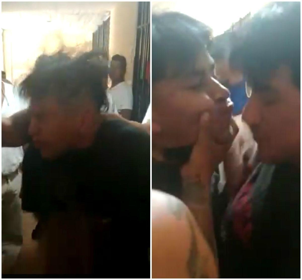 Banda que controla penal en Puebla, México, ataca a cachetadas a reos, los obligan a besarse y comparten video
