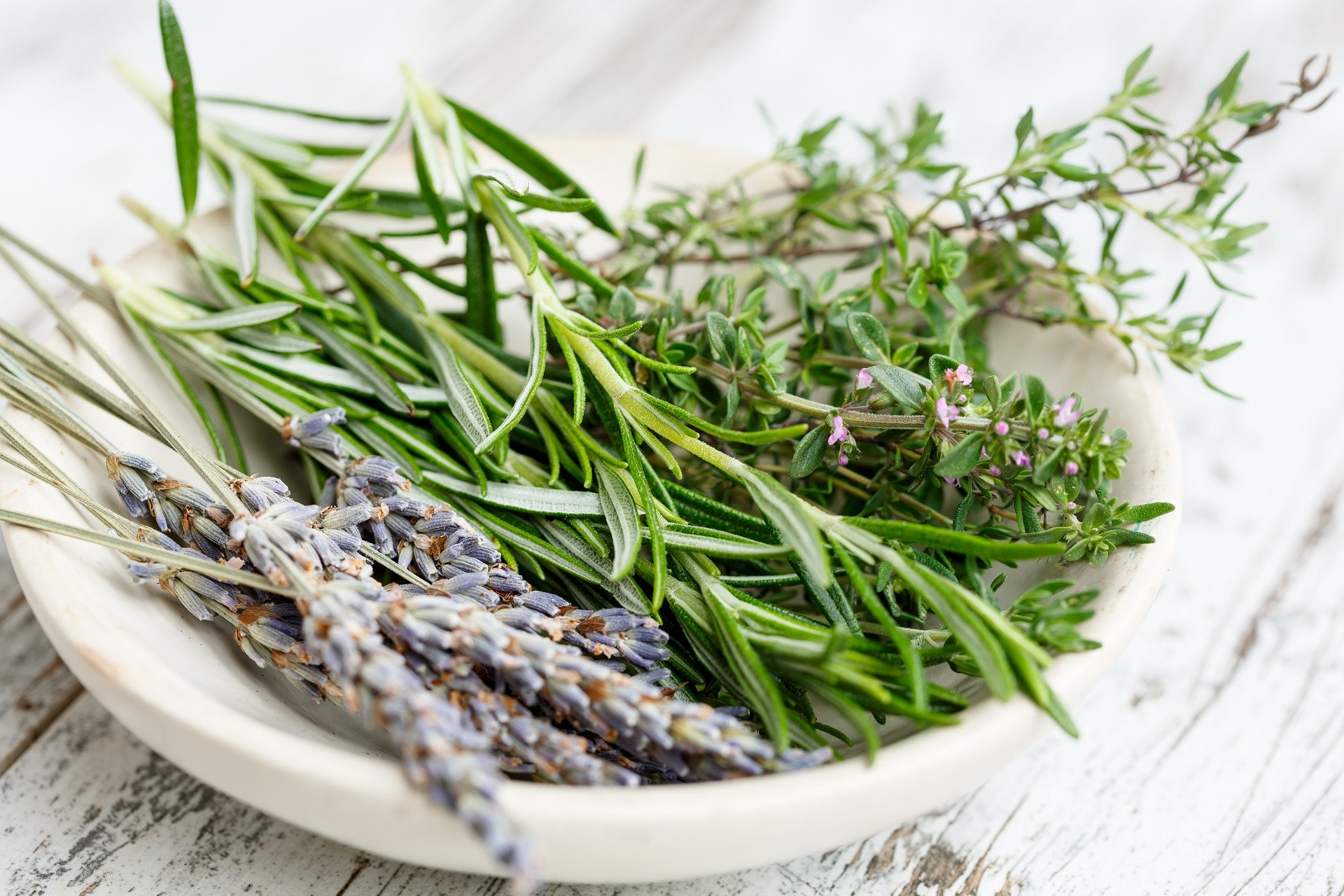 Lavender and rosemary.