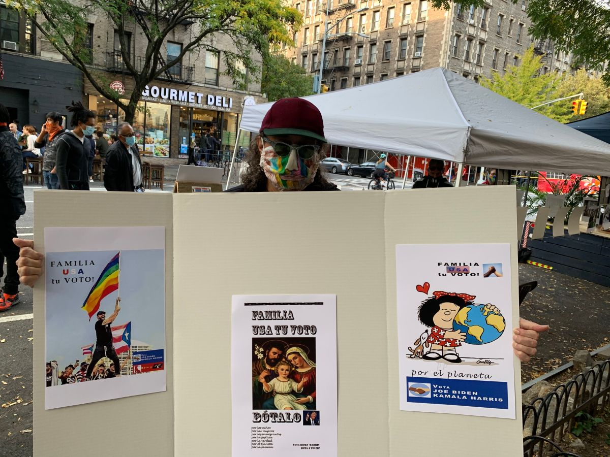 """Latinos del Upper West Side de Manhattan promueven ser """"buenos vecinos"""" y salir a votar"""