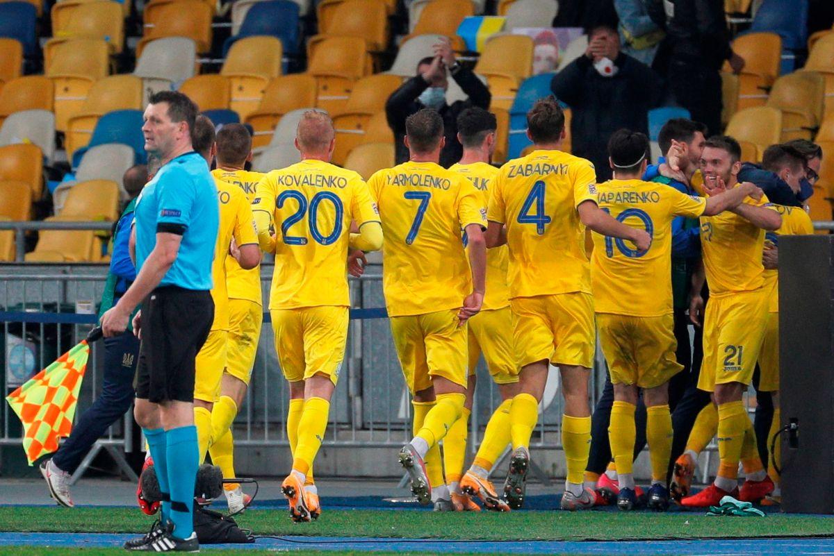 17 años después Ucrania le marcó un gol a España y les propinó su primera derrota en la Liga de Naciones
