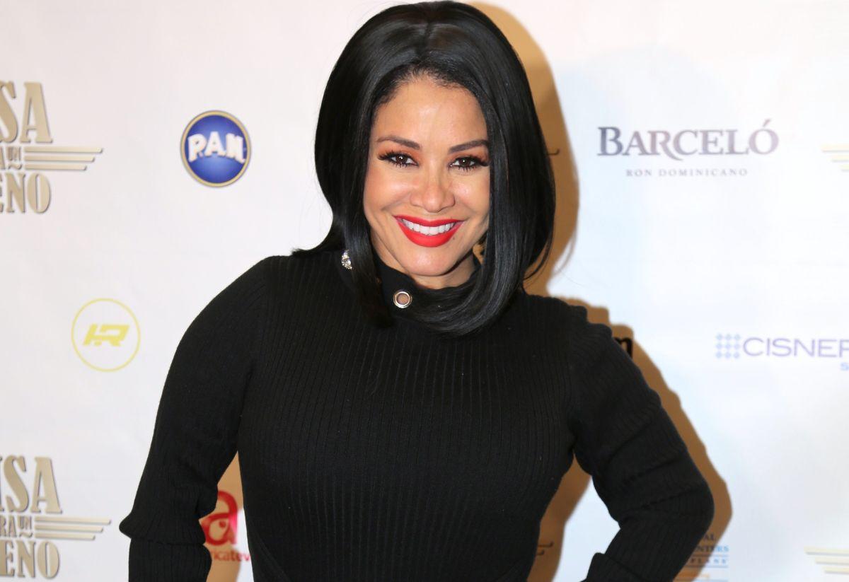 """Carolina Sandoval se pone un vestido dorado y luce el famoso bolso """"Book Tote"""" de Christian Dior"""