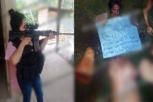 FOTO: CJNG descuartiza brutalmente a mujer, junto a los restos dejaron un narcomensaje