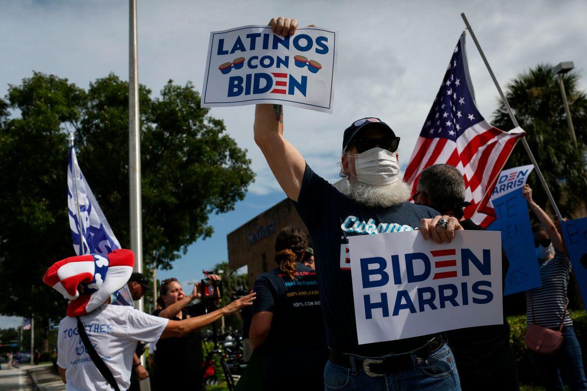 Activistas destacan voto latino para posible triunfo de Biden