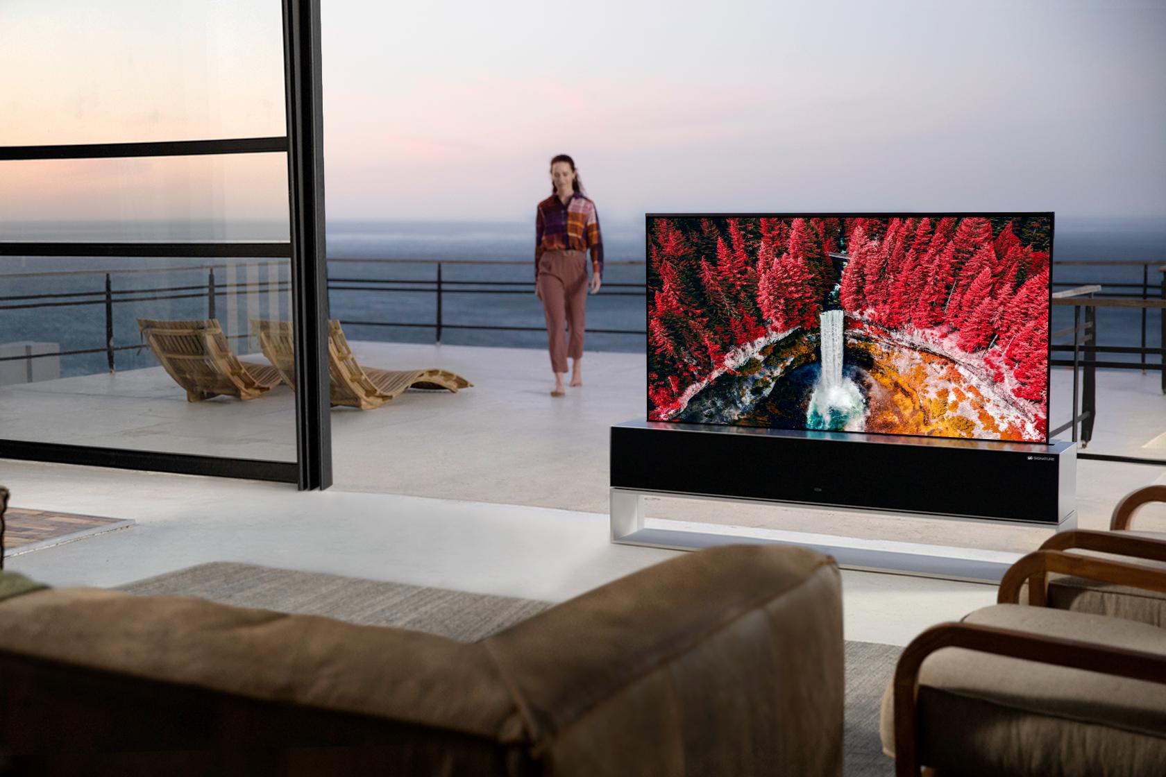 Televisor LG enrollable