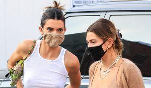 Sin brasier, Kendall Jenner y Hailey Bieber paralizaron el tráfico en Los Ángeles
