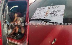 """Gente de """"El Mayo"""" Zambada abandona 12 cuerpos con narcomensaje en San Luis Potosí"""