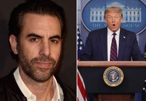 """Trump y Sacha Baron Cohen se insultan y el actor de 'Borat' le ofrece """"trabajo"""" al presidente"""
