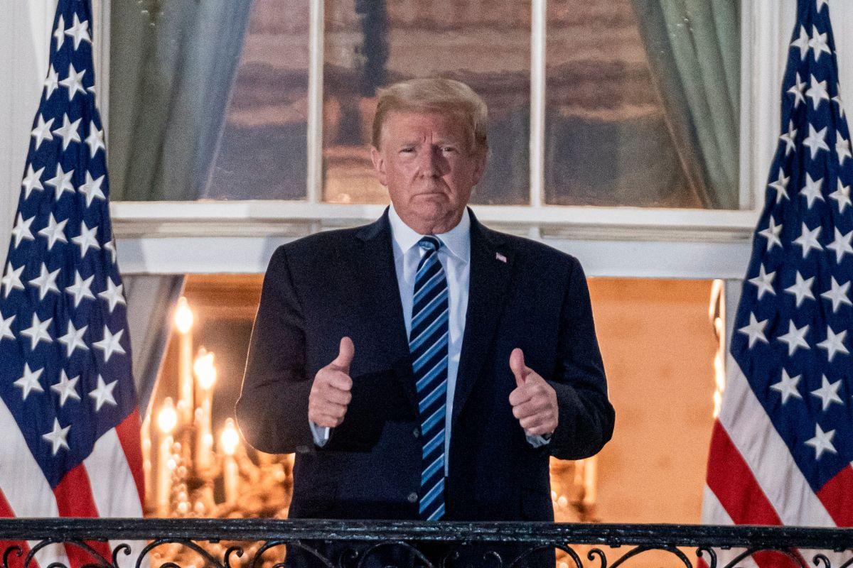 Trump al regresar a la Casa Blanca.