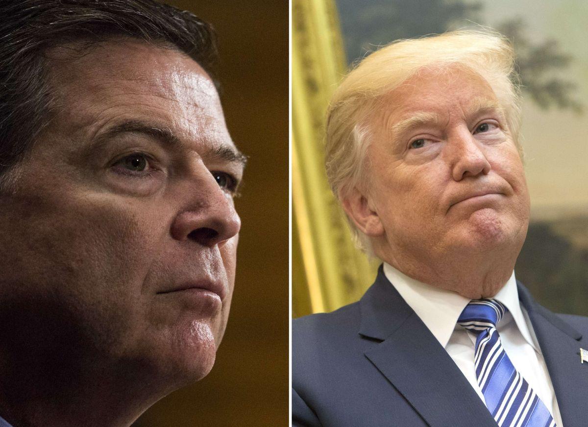 James Comey fue despedido del FBI por el presidente Trump.