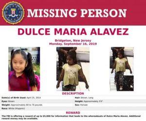 Descartan rumor de muerte de Dulce María, niña raptada hace un año en Nueva Jersey