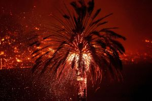 Fuertes vientos desafían a los bomberos en los incendios en California