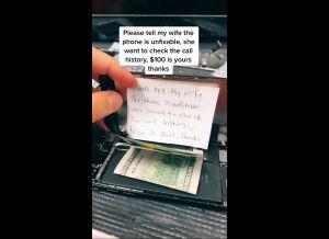"""VIDEOS: Infiel lleva su celular a """"reparar"""" y le pide al técnico que mienta por $100 dólares; pero él le cuenta todo a la esposa por $200"""