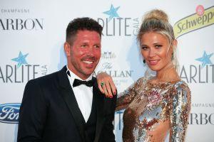 Carla Pereyra anima a su esposo Diego Simeone y al Atlético de Madrid desde Argentina