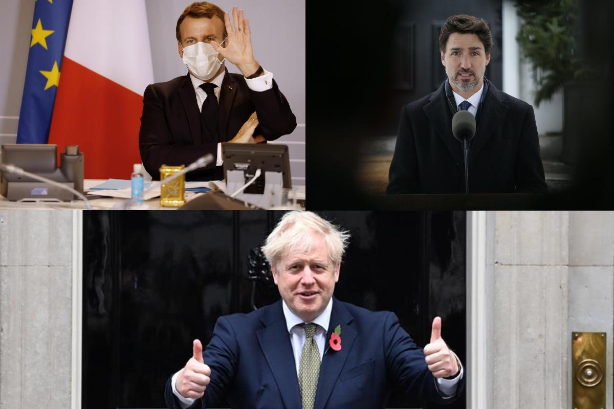 Trudeau de Canadá, Johnson de Inglaterra y Macron de Francia felicitan a Biden