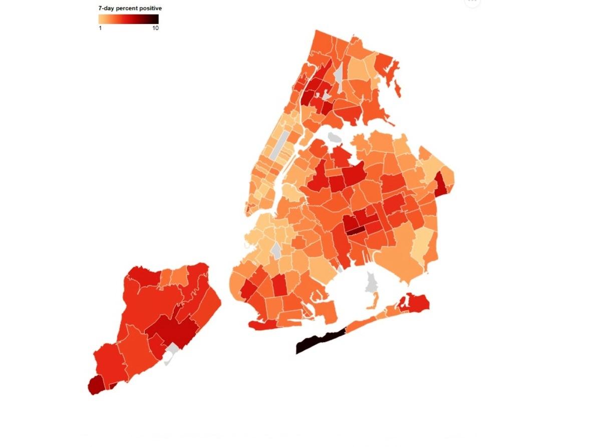 40 New York neighborhoods have alarming rates of coronavirus