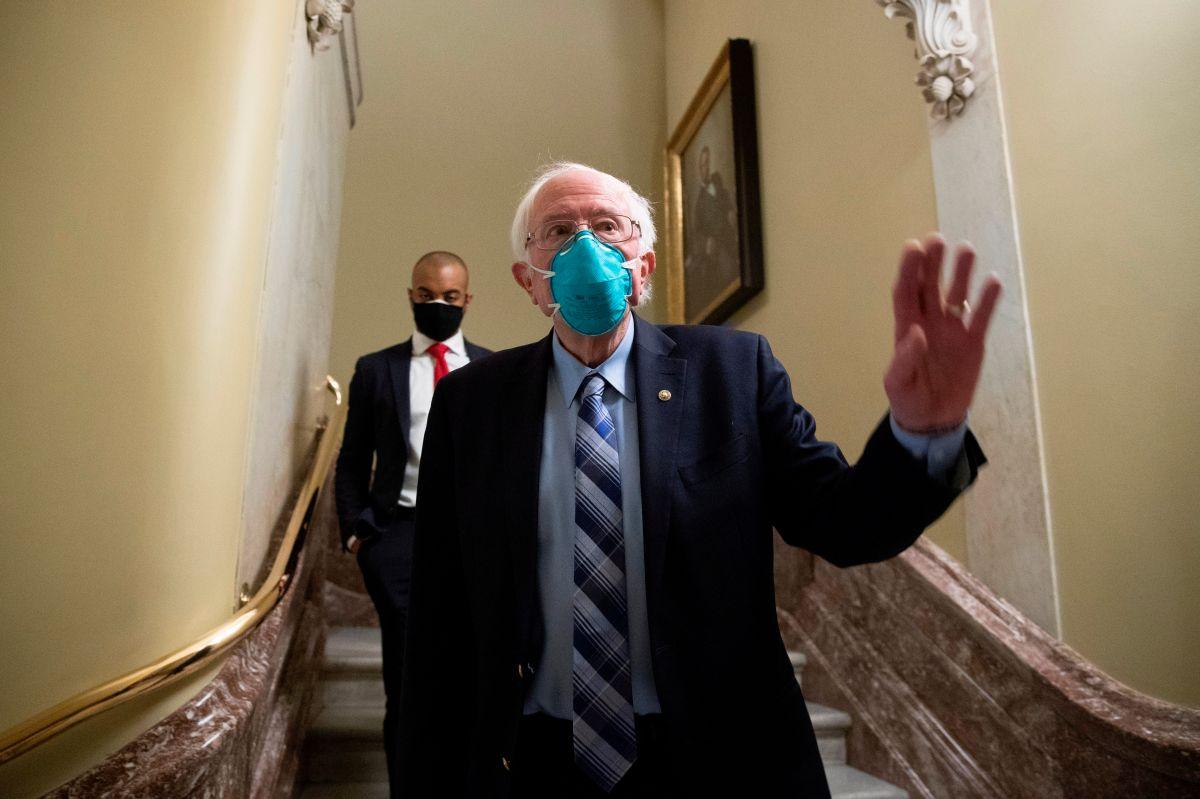 El senador Bernie Sanders en una foto de archivo.