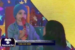 Mira a Matteo, el hijo de Alejandra Espinoza, debutando como cantante