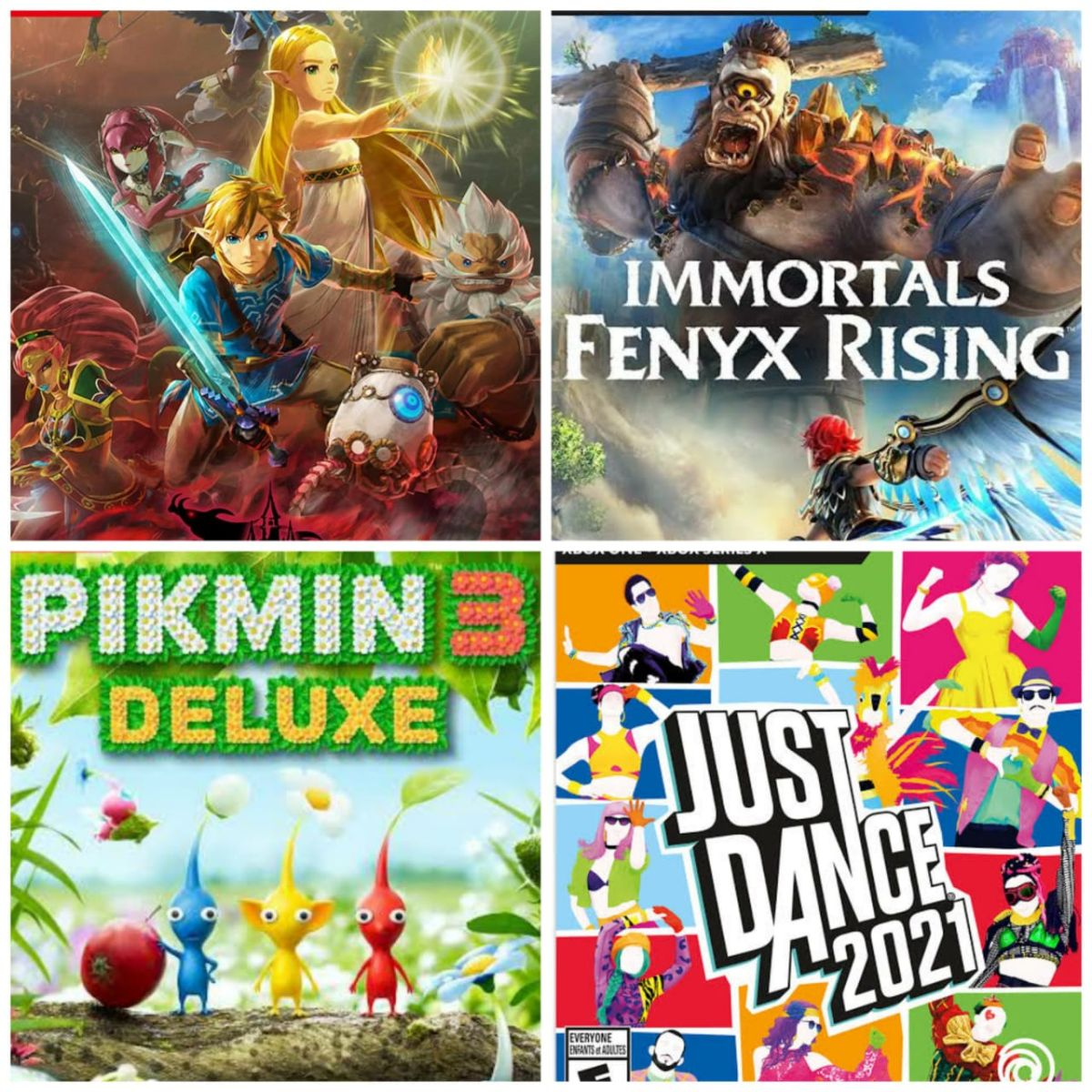 Reseña: Immortals: Fenyx Rising, Pikmin 3 Deluxe Edition, Zelda Hyrule Warriors Age of Calamity y Just Dance 2021