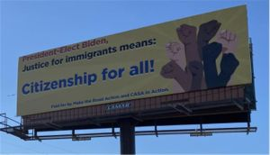 Inmigrantes de NYC van hasta la 'casa' de Biden y plantan sus reclamos con vallas exigiendo acciones