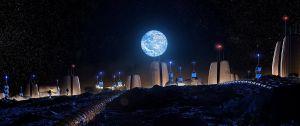 """FOTOS: Así será el primer vecindario humano instalado en la Luna, el """"Moon Village"""""""