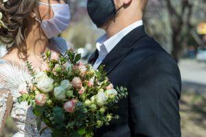 Novia fue diagnosticada con coronavirus días antes de su boda pero eso no impidió que se celebrara
