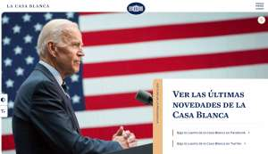 La Casa Blanca reabre sitio web en español
