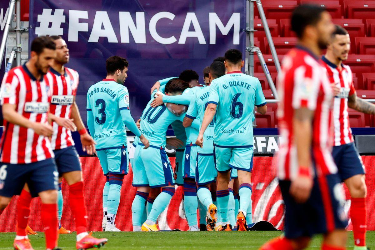 """Parecían invencibles, pero no… El """"Atleti"""" cayó en Madrid frente al Levante"""