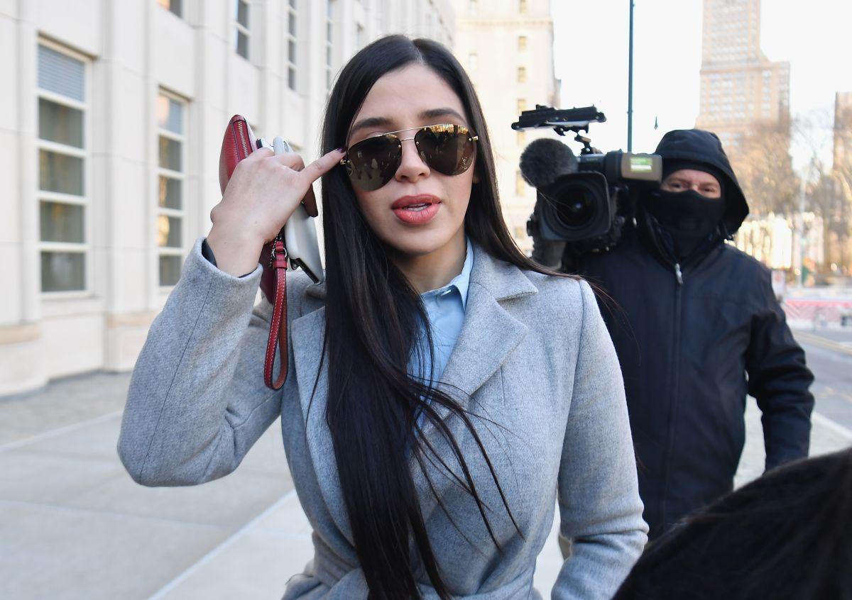 """Emma Coronel Aispuro a su llegada a la Corte Federal de Brooklyn para el juicio contra su esposo Joaquín """"El Chapo"""" Guzmán en enero del 2019."""