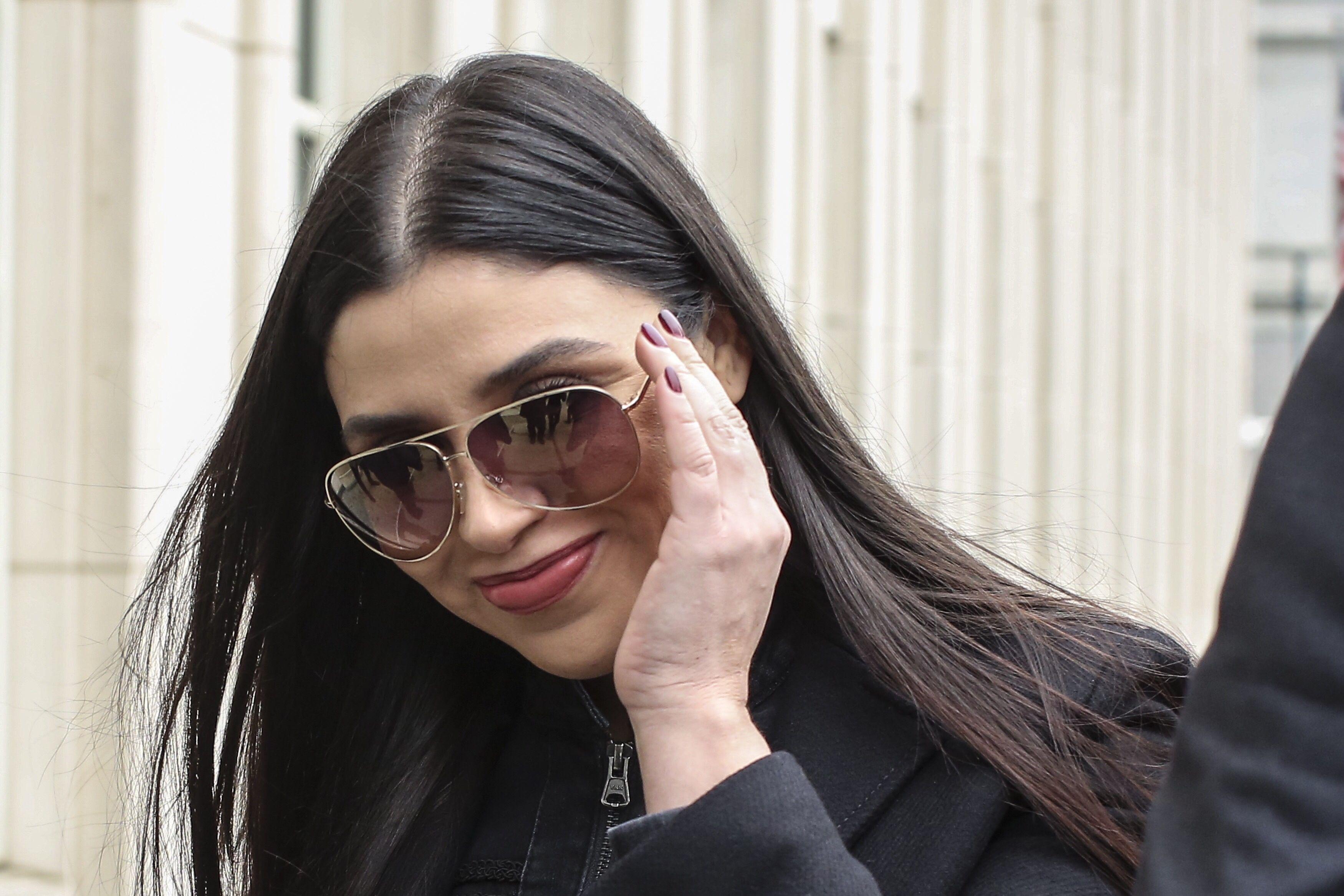 Emma Coronel esposa del Chapo durante juicio en NYC
