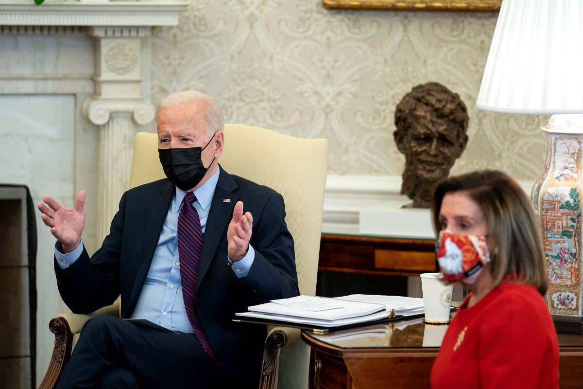 Biden se reúne con líderes demócratas en la Casa Blanca y urge aprobación de nuevo paquete de estímulo