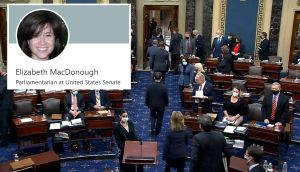 Quién es Elizabeth MacDonough y por qué depende de ella el paquete de estímulo económico en el Congreso