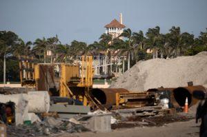 El helipuerto de la mansión de Trump en Mar-a-Lago, Florida, es demolido