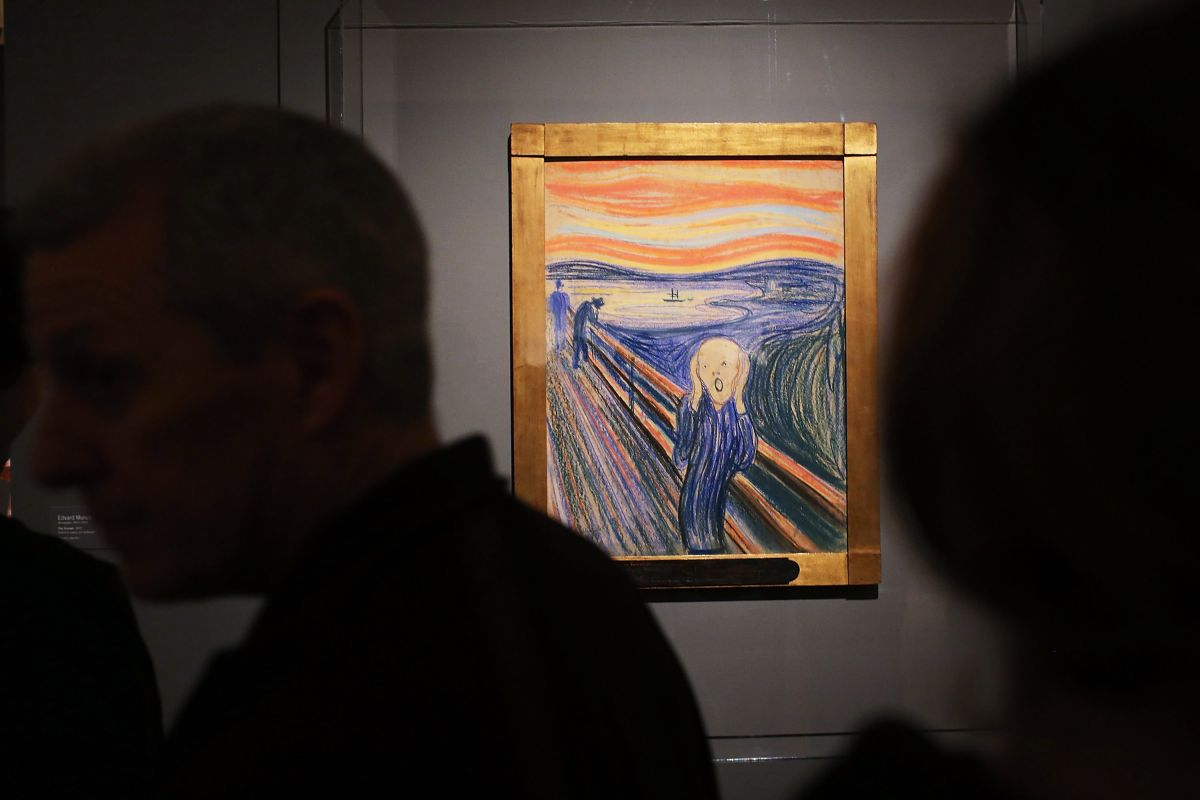 """Descifran en mensaje que Edvard Munch dejó escrito en la pintura """"El grito"""""""