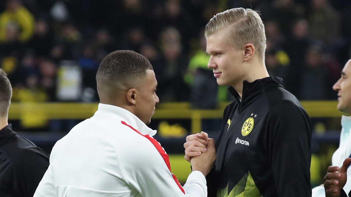 Kylian Mbappé y Erling Haaland, los dos referentes del futuro futbolístico.