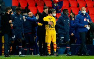 Lionel Messi abrazó al DT del París Saint-Germain, equipo que lo pretende; ¿qué se dijeron?