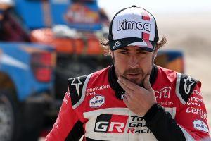 Fernando Alonso no ocultó su emoción por volver a correr en la Fórmula 1