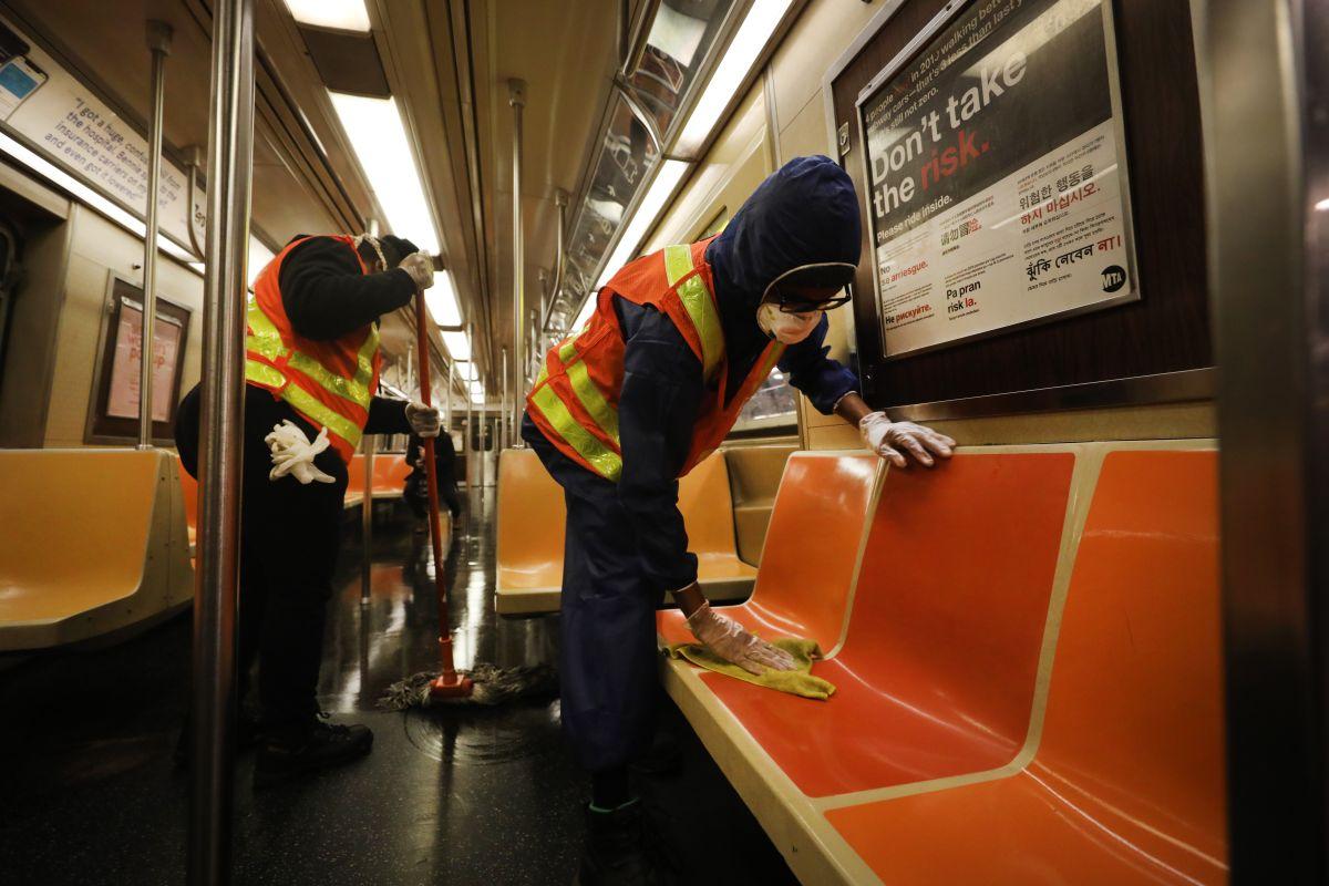 Desde el pasado febrero, la limpieza del subway se realiza entre las 2 y 4 a.m.