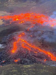 Guardia Costera de Islandia capta erupción de volcán Fagradalsfjall luego de 800 años de inactividad