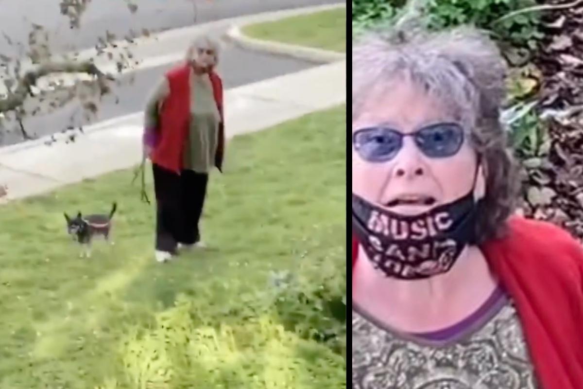 """VIDEO: Califican como """"Karen"""" a anciana fisgona que invadió propiedad para reprender a niños"""