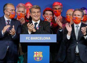 VIDEO: El nuevo presidente del Barcelona visitó la Ciudad Deportiva; ya habló sobre cómo buscará retener a Messi