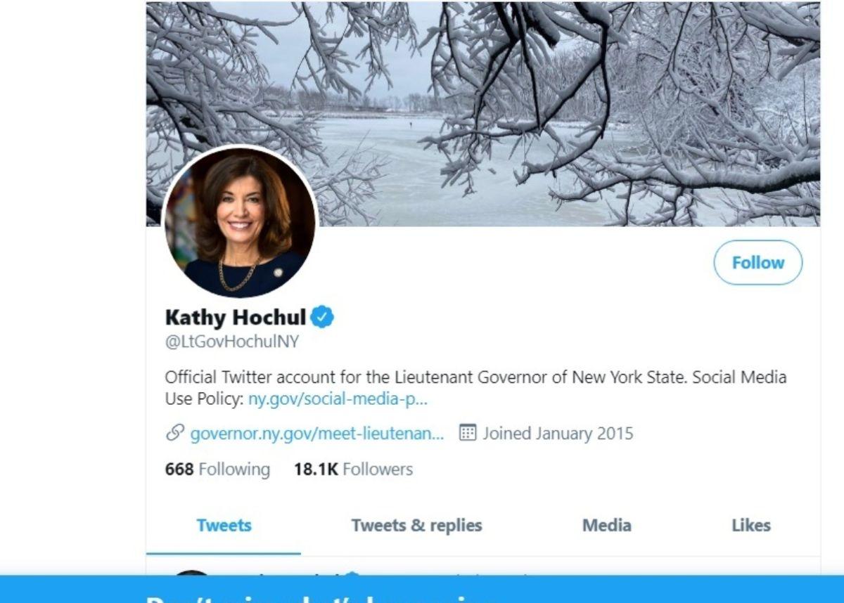 Su cuenta oficial en Twitter.