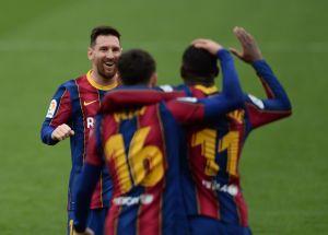 VIDEO: Leo Messi volvió a ser feliz y así celebró el gol de Gerard Piqué que guió a la remontada