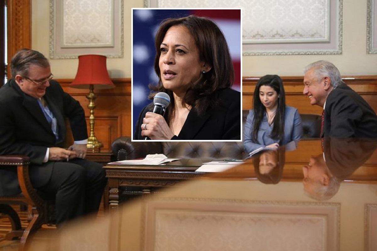Kamala Harris habla con AMLO sobre inmigración y arribo de niños