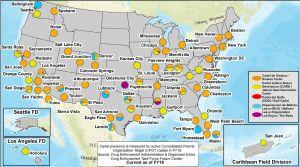 """Mapa de la DEA muestra el poder de los cárteles de Sinaloa y de """"El Mencho"""" en Estados Unidos"""